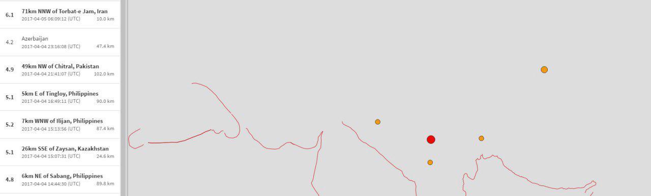 زلزله مشهد