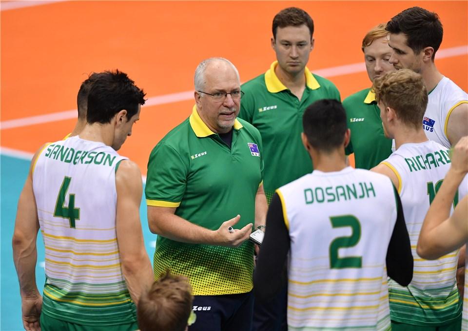والیبال قهرمانی آسیا 2019 - ایران و استرالیا - سرمربی تیم ملی والیبال استرالیا - لبدوف