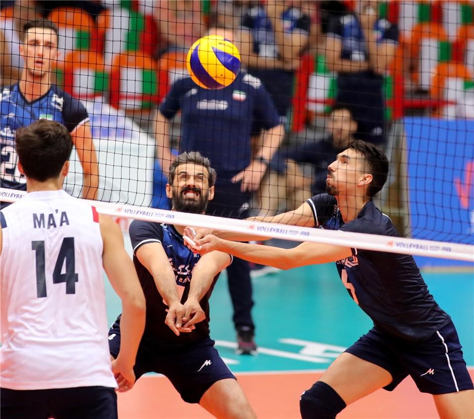 لیگ ملت های والیبال 2019 - تیم ملی والیبال ایران - تیم ملی والیبال آمریکا