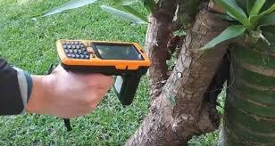 استفاده از ابزار بازخوان جهت خواندن اطلاعات آر اف آیدی درخت | شرکت آسمان فناوری آسیا