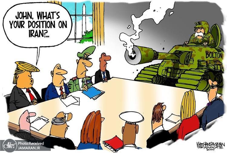 کاریکاتور/ جنگطلبی جان بولتون