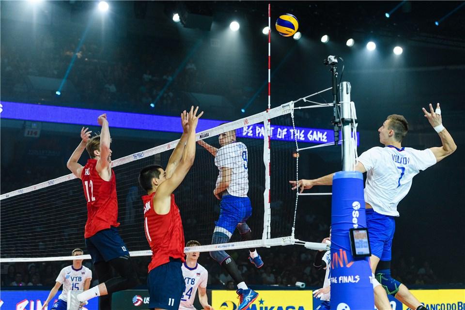 فینال لیگ ملت های والیبال 2019 - تیم ملی والیبال آمریکا - تیم ملی والیبال لهستان