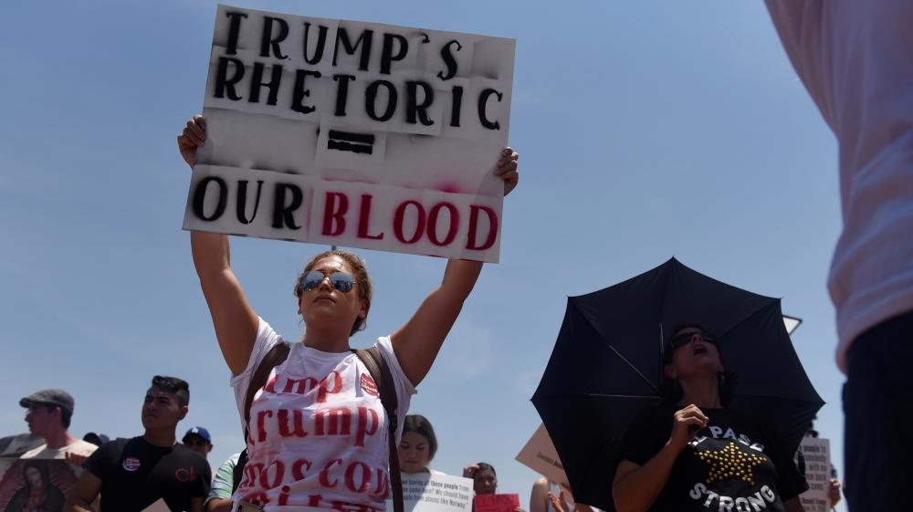دونالد ترامپ..اعتراض به ترامپ در ال پاسو و دیتون