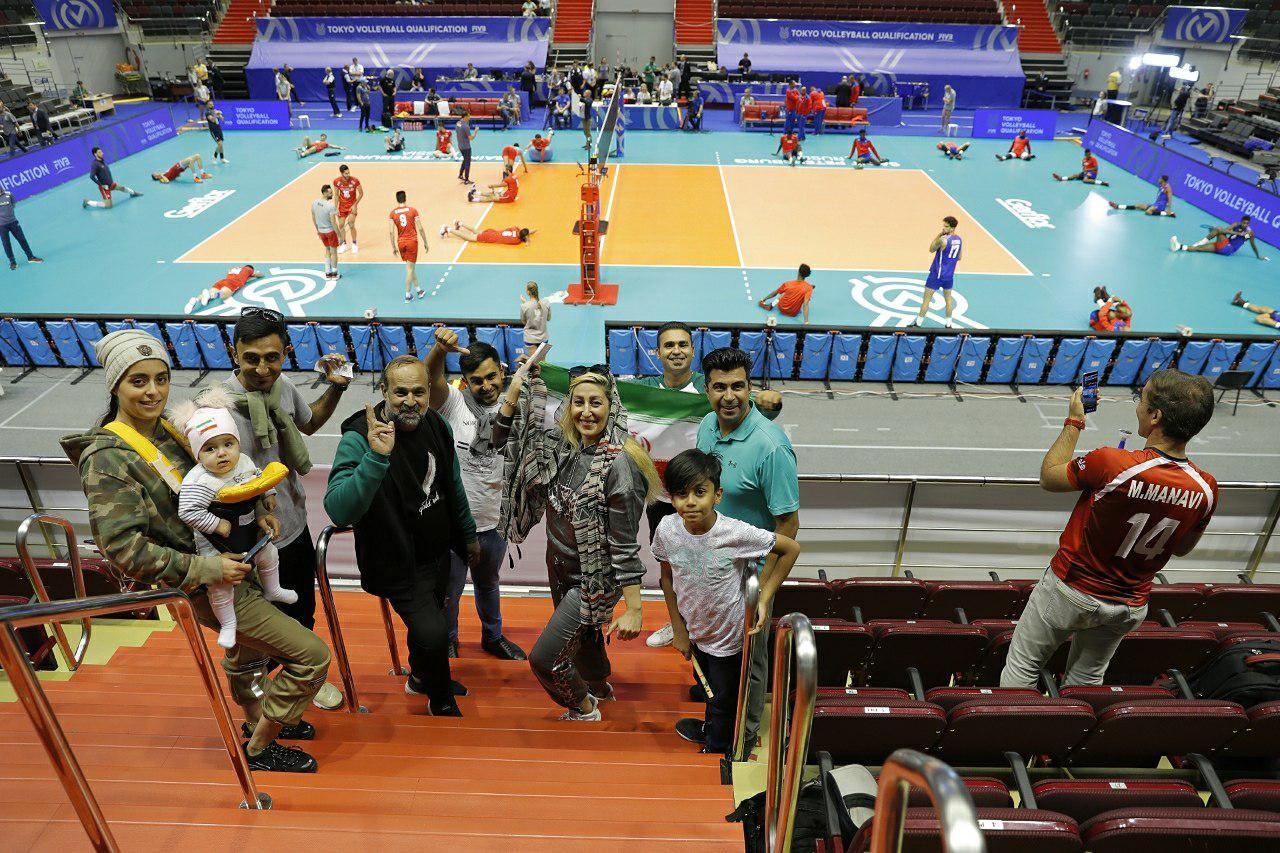 والیبال انتخابی المپیک - تیم ملی والیبال ایران - تیم ملی والیبال کوبا - تماشاگر