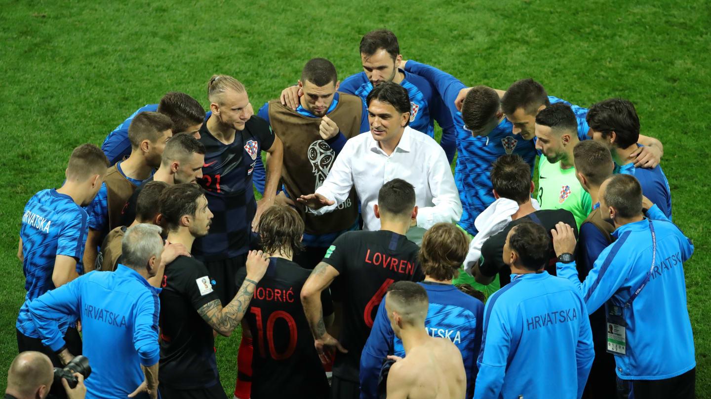 جام جهانی 2018 روسیه/ ورسالیکو سرمربی کرواسی را به زمین زد+ فیلم