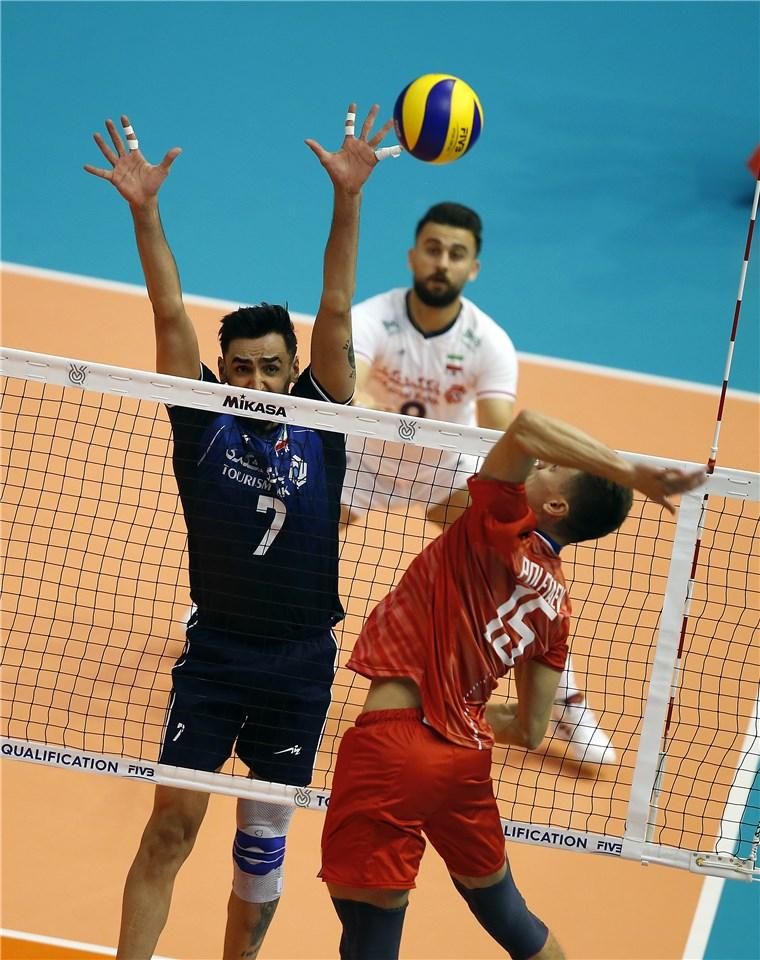والیبال انتخابی المپیک - تیم ملی والیبال ایران - تیم ملی والیبال روسیه