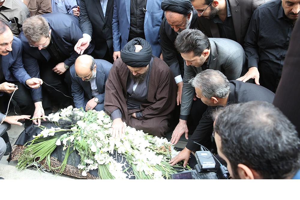 مراسم تشییع جنازه بهرام شفیع