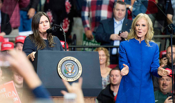 Sarah-Huckabee-Sanders-and-Kellyanne-Conway-speak-1587144