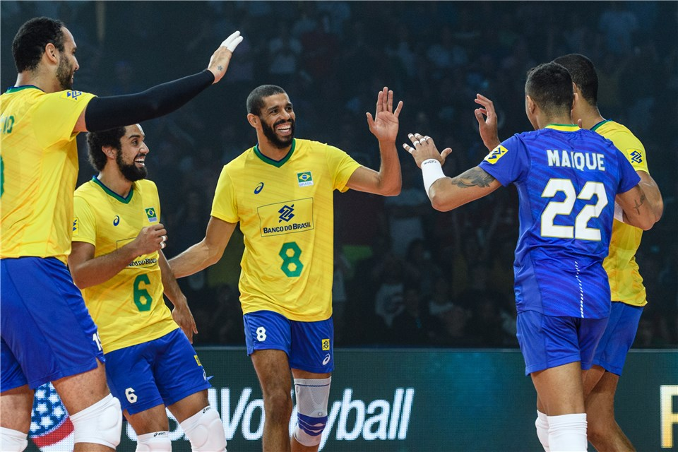 لیگ ملت های والیبال 2019 - تیم ملی والیبال ایران - تیم ملی والیبال برزیل