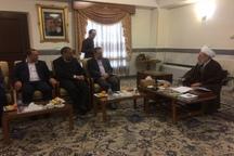 استاندار تهران با آیت الله ری شهری دیدار کرد