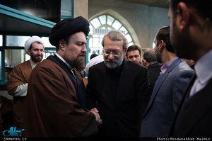 مراسم وداع با پیکر آیت الله هاشمی رفسنجانی(ره) در حسینیه جماران-11