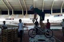 مسابقات دوچرخه سواری جام رمضان در مشهد