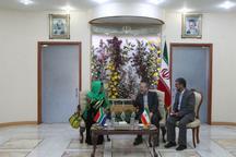 رئیس مجلس نمایندگان آفریقای جنوبی وارد اصفهان شد