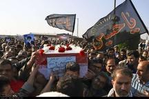 پیکر یک شهید گمنام در مجتمع آموزش فنون اهواز خاکسپاری شد