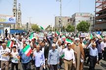 راهپیمایی مردم هرمزگان درحمایت از شورای عالی امنیت ملی
