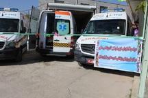 سه دستگاه آمبولانس به شبکه درمان چاراویماق اضافه شد