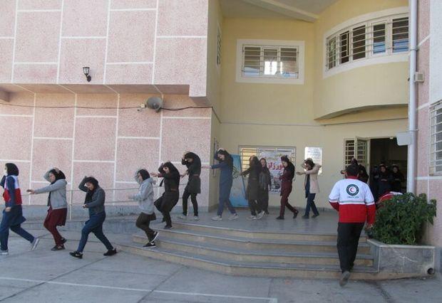 مانور سراسری زلزله در مدارس چهارمحال وبختیاری اجرا شد