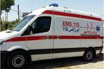 تصادف خودرو با موتور یک کشته در خاتم یزد برجا گذاشت