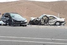 تصادف 2 سواری در کاشان یک کشته و 6 مصدوم برجای گذاشت
