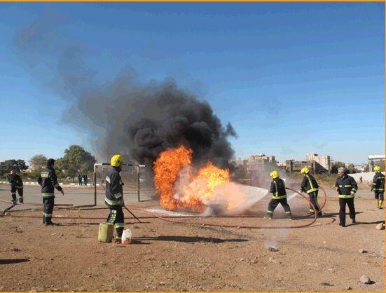تمرین مقابله با آتشسوزی در اهر برگزار شد