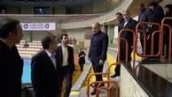 وزیر ورزش و رئیس کمیته ملی المپیک از تمرین تیم ملی والیبال بازدید کردند