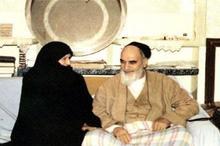 شعر همسر امام خمینی در هجران ایشان