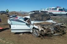 مصدومیت 4 نفر بر اثر واژگونی خودرو در قوچان