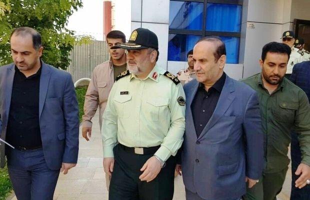 فرمانده نیروی انتظامی جمهوری اسلامی وارد ایلام شد