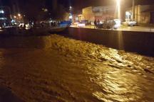 باران شدید در مجن خطری برای اهالی ندارد