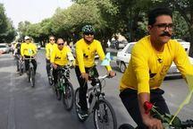 شماری از یزدی ها همزمان با روز دوچرخه سواری رکاب زدند