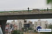 جلوگیری از خودکشی مرد جوان روی پل جمهوری در مشهد