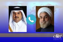 ایران خواهان گسترش و تعمیق روابط با قطر است/ پیشنهاد تقویت همکاری های دریایی و ایجاد یک خط کشتیرانی مشترک / دعوت از امیر قطر برای شرکت در اجلاس سران مجمع گفتگوی همکاریهای آسیا در تهران