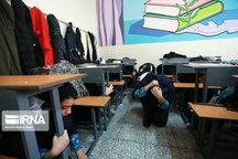 رزمایش زلزله در مدارس اردکان برگزار شد