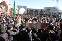 پیکر شهید پور بافرانی در نایین تشییع شد