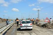 جاده مسدود شده از سیل گلستان پس از 2 ماه باز شد
