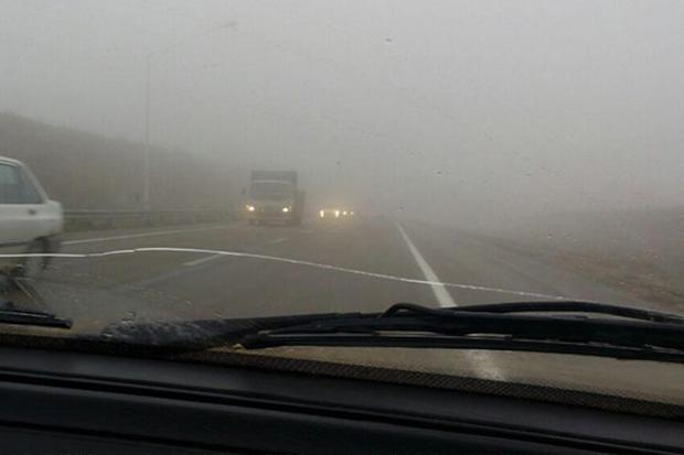جاده های زنجان پوشیده از مه غلیظ و لغزنده است