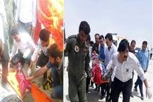 2 مجروح در حادثه سقوط جت جنگی در چابهار