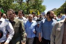 حضور فرمانده کل سپاه پاسداران در راهپیمایی روز قدس