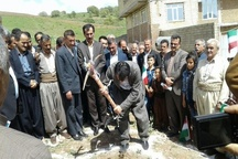 یک واحد آموزشی در روستای کوخ شیخ الاسلام بانه کلنگ زنی شد