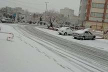 بارش برف بهاره مردم و مسافران نوروزی را در اراک غافلگیر کرد
