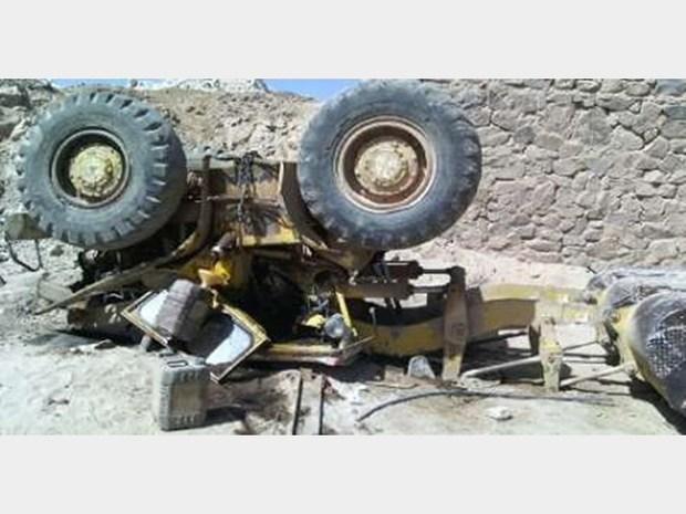 سقوط لودر در مشهد راننده را به کام مرگ کشید