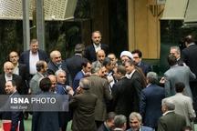 روز حضور جهانگیری و دو وزیر در مجلس + عکس