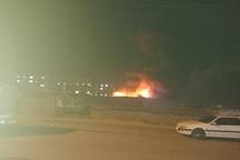علت آتش سوزی جمعه بازار یاسوج در دست بررسی است
