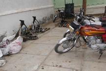 باند سارقان موتورسیکلت در تاکستان منهدم شد