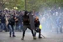 تظاهرات در پاریس به خشونت کشیده شد