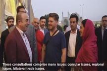 ویدیویی که وزیرخارجه ترکیه از سفرش به اصفهان منتشر کرد