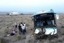 ۲۴ مصدوم در سانحه تصادف اتوبوس در آزادراه ساوه - همدان