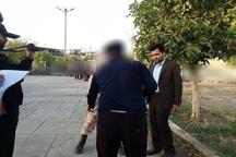 بازسازی صحنه قتل در یکی از پارکهای جیرفت