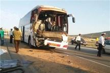برخورد اتوبوس مسافربری با پژو 405 یک کشته و یک مصدوم برجا گذاشت