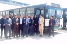 رونمایی از اتوبوس های جدید حمل و نقل عمومی شهر یاسوج